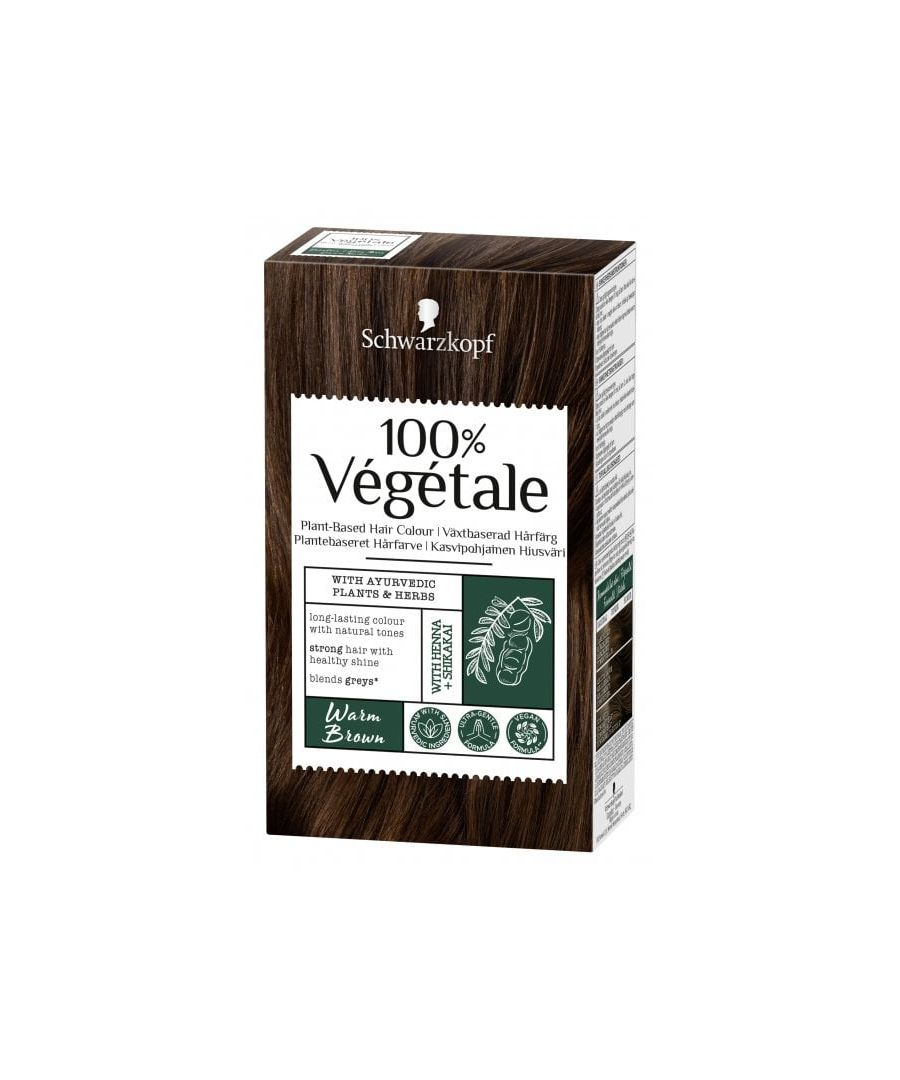 Image for Schwarzkopf 100% Végétale Plant-Based Hair Colour - Warm Brown