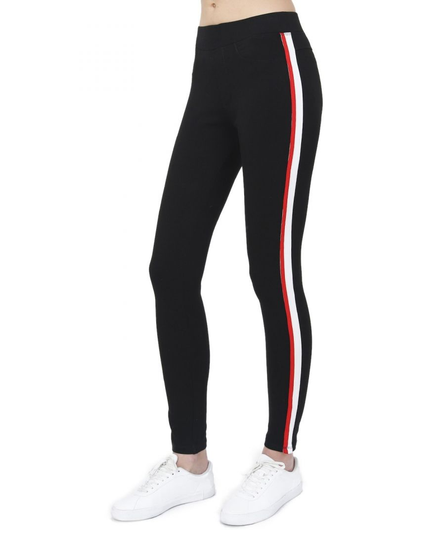 Image for Assuili Two-tone Side Stripe Leggings in Black