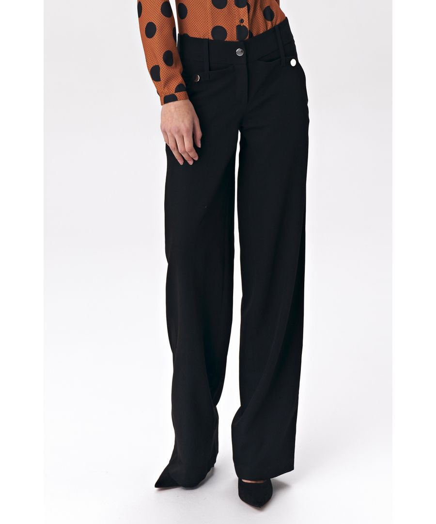 Image for Black palazzo trousers