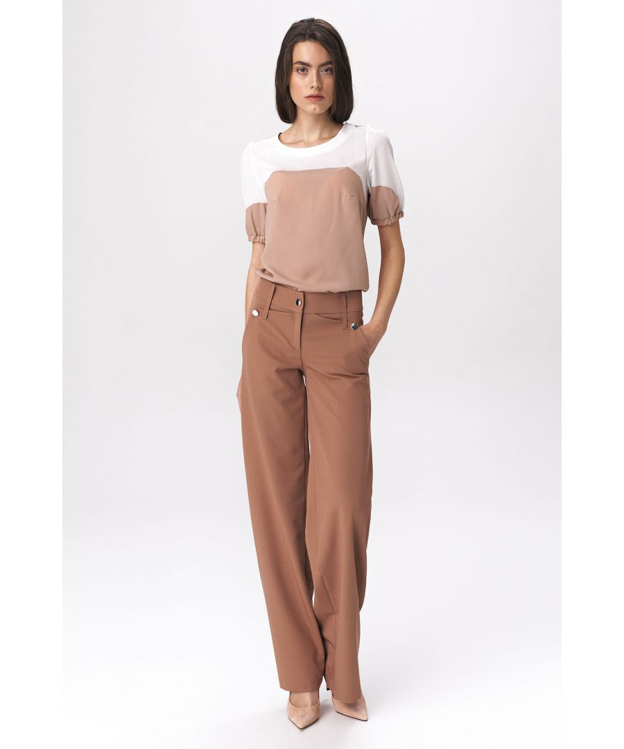 Image for Caramel Palazzo Trousers