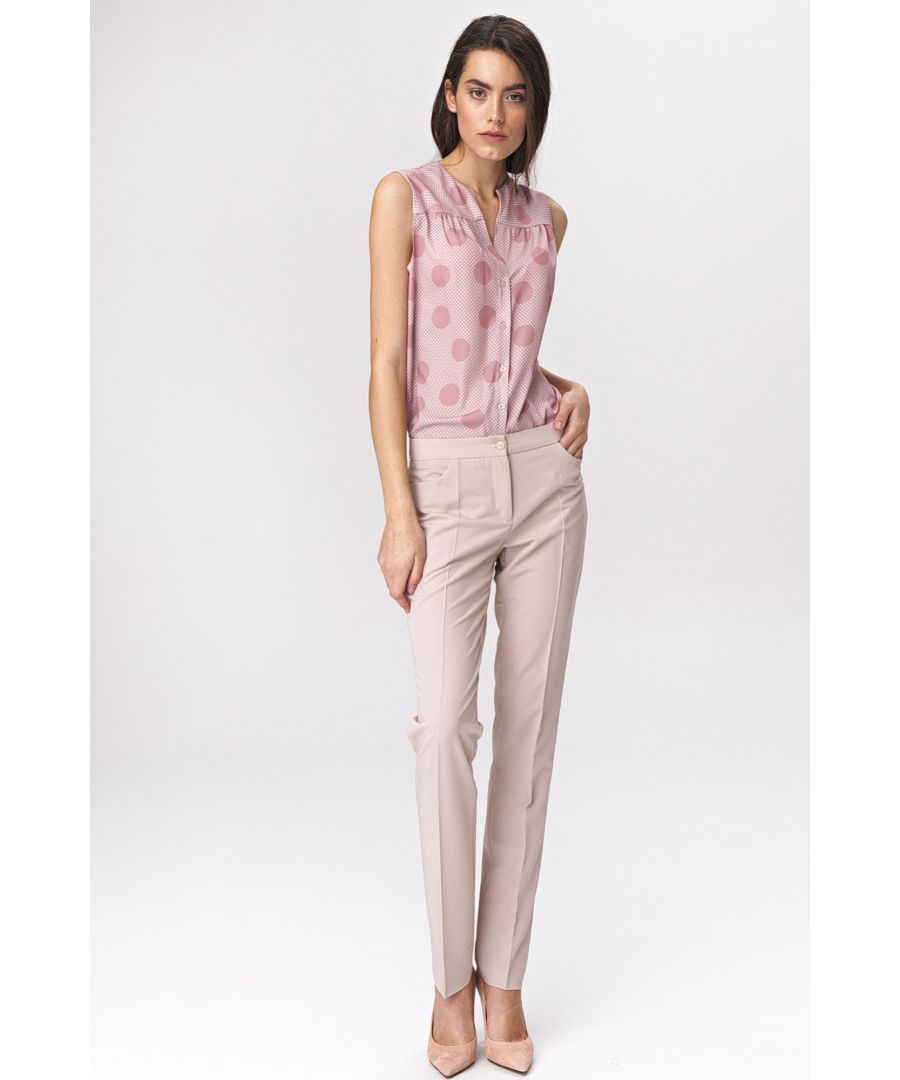 Image for Light beige classic womens trousers