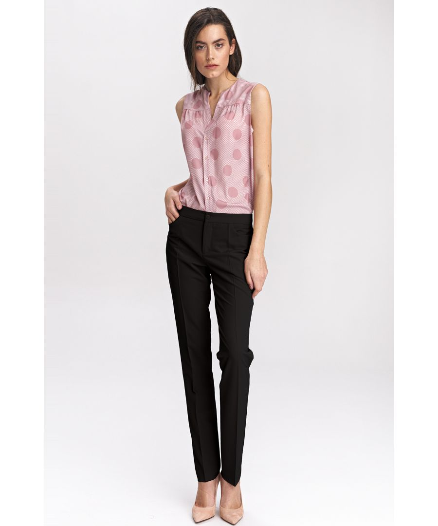 Image for Black classic womens trousers