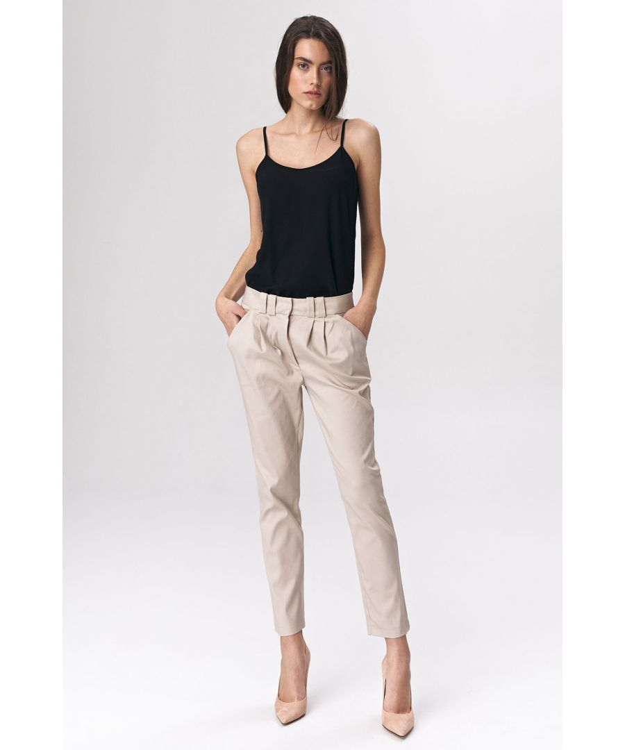 Image for Fitted womens trousers - beige