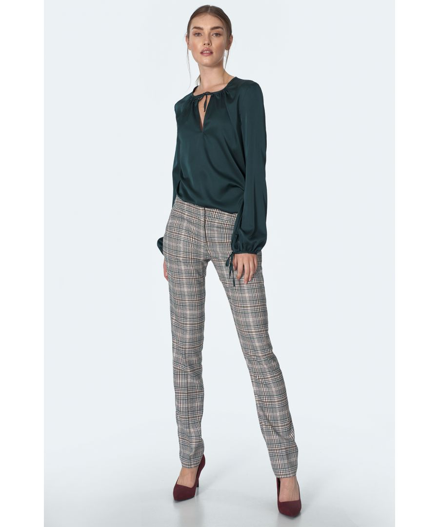 Image for Classic Green Chequered Trousers