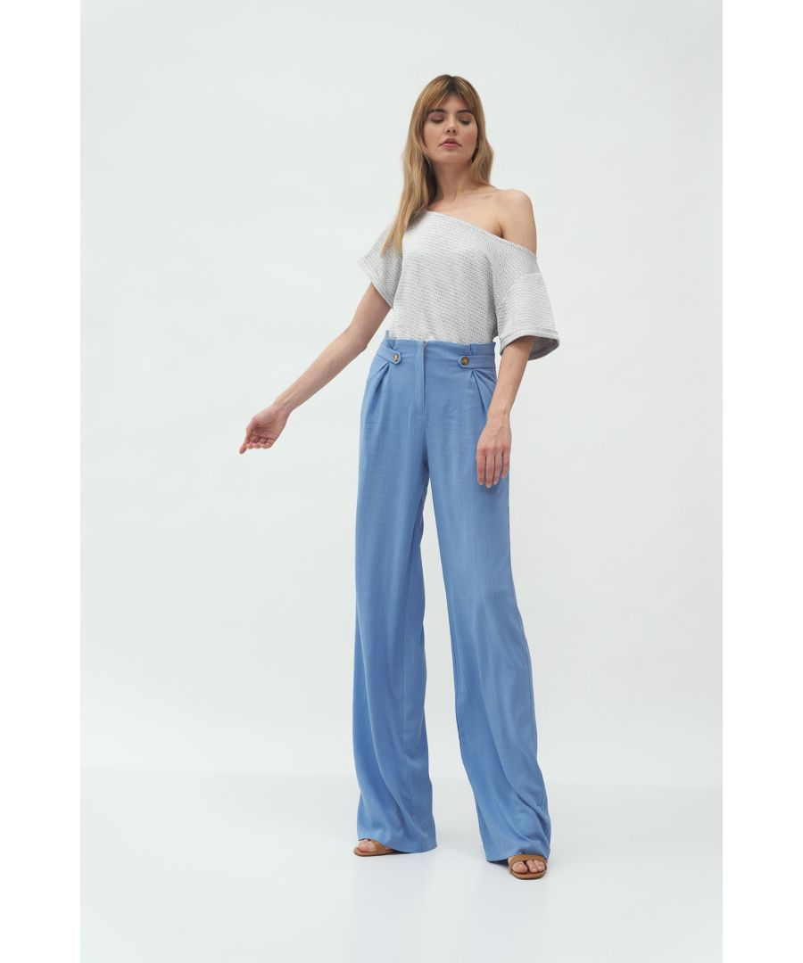 Image for Blue Women's Palazzo Style Trousers