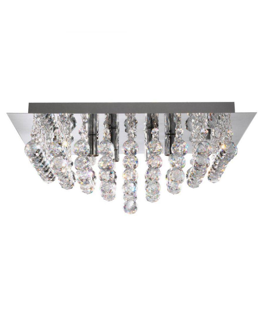 Image for Kalli 4 Light Semi Flush Ceiling Light