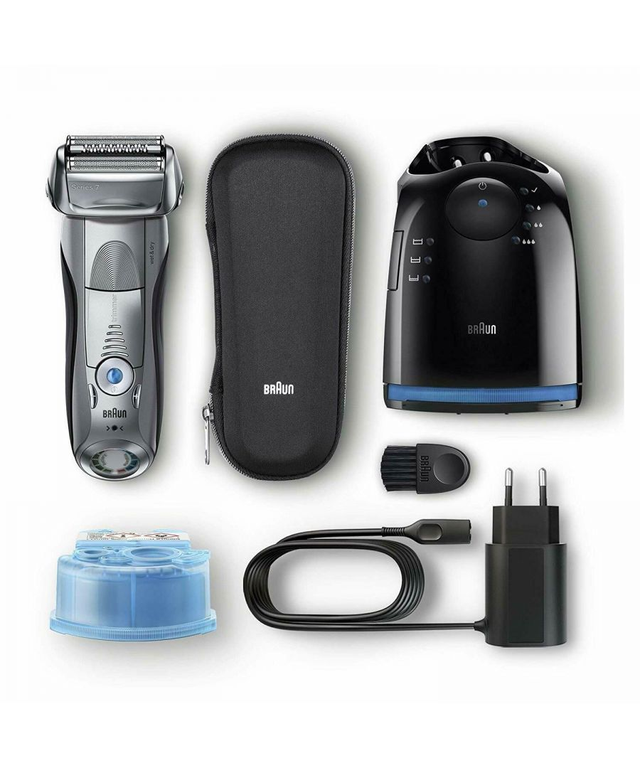 Image for Braun Series 7-7898cc Electric Shaver for Men with Travel Case - Silver