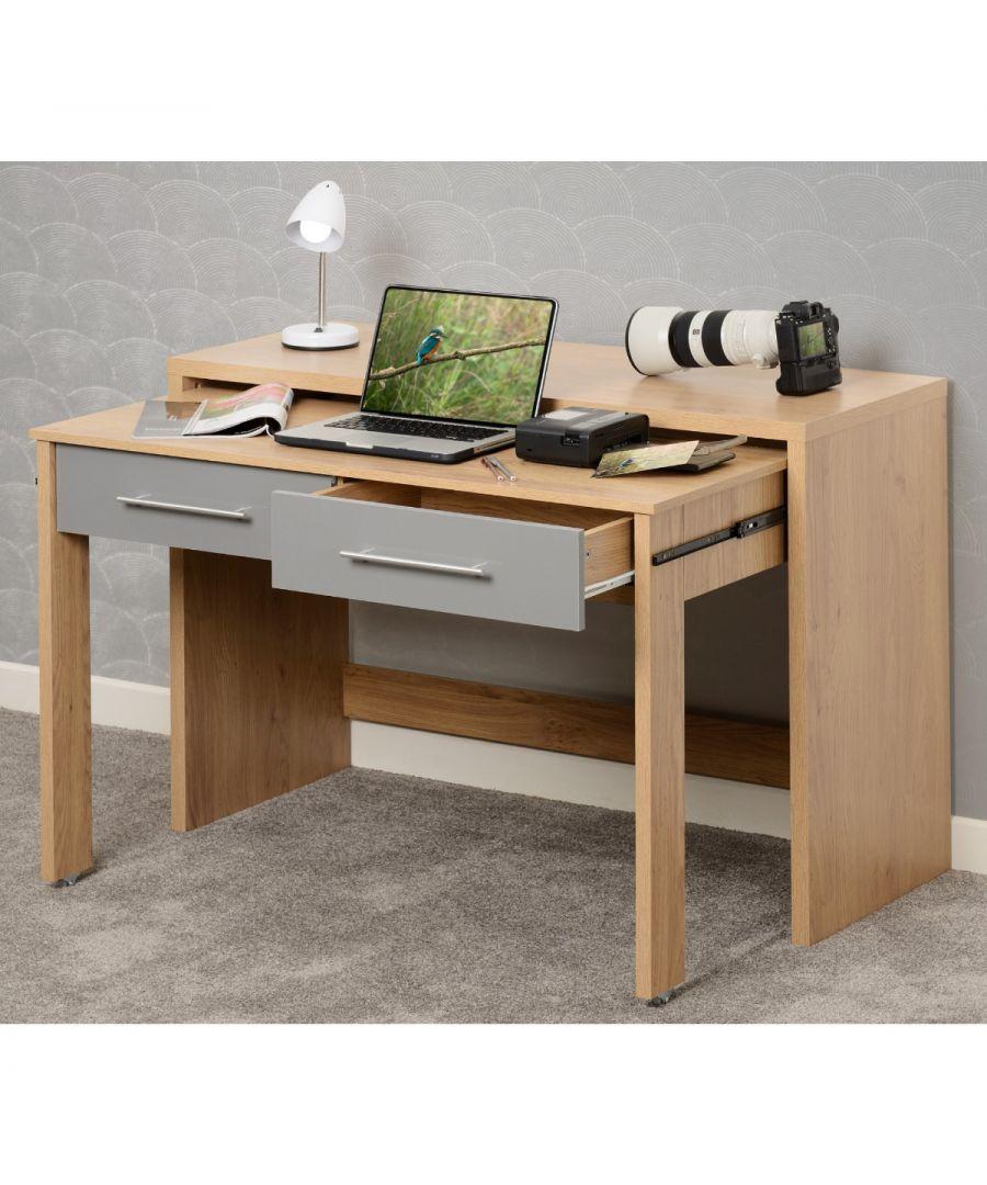 Image for Seville Grey and Light Oak Slider Desk