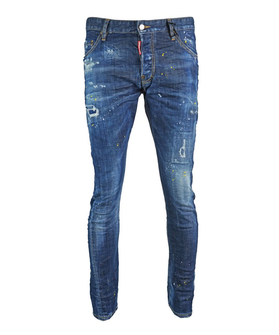 Image for Dsquared2 Sexy Twist Jean Destroyed Paint Effect Jeans