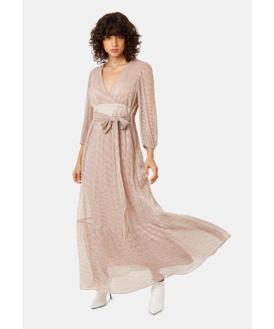 Image for Silent Breathe Metallic Maxi Dress in Gold