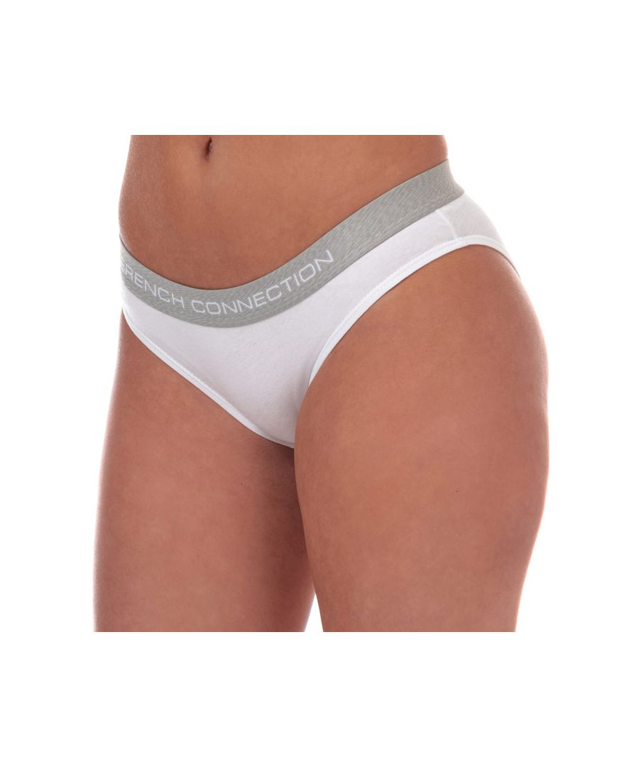 Image for Women's French Connection 2 Pack Briefs in Grey White