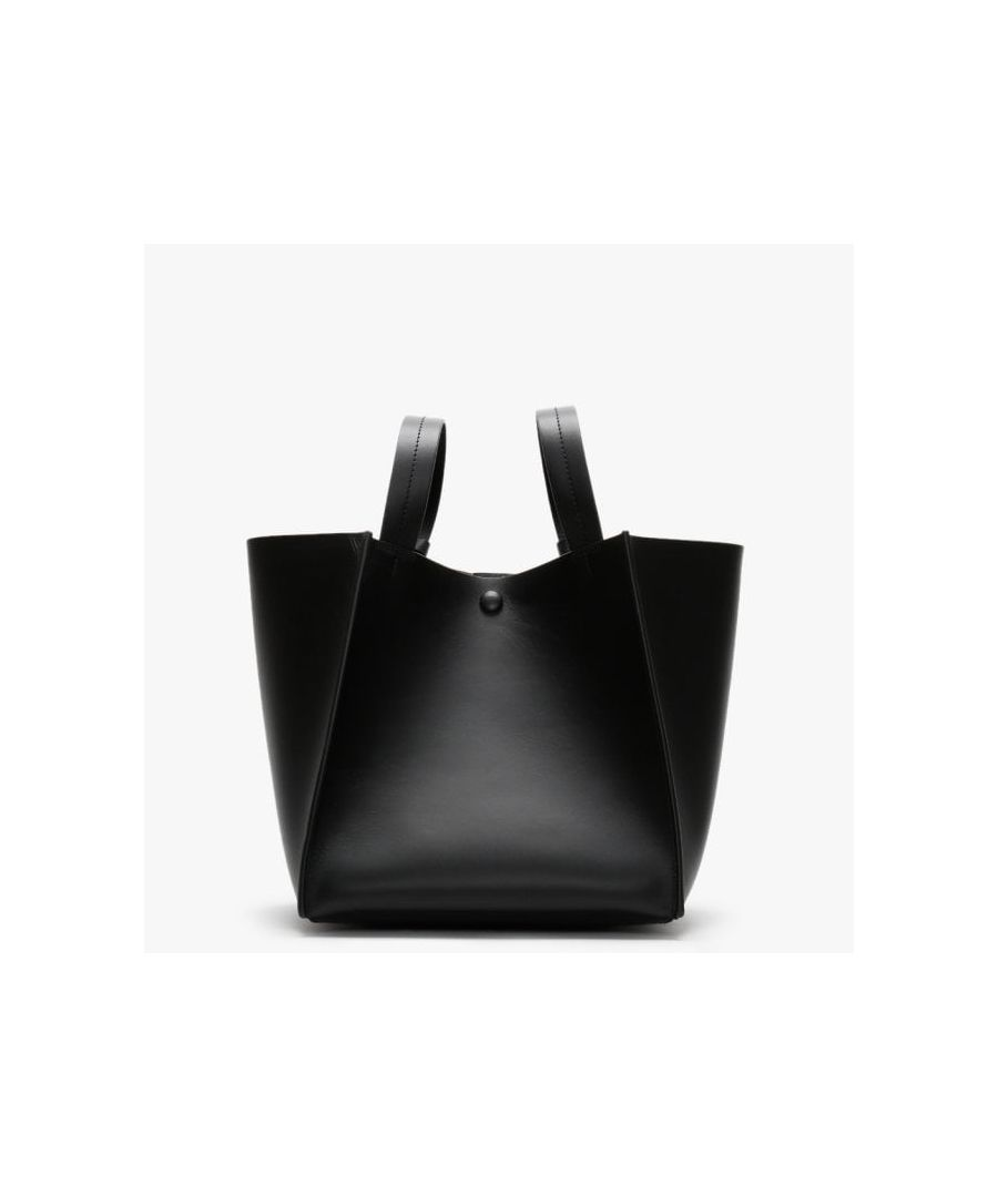 Image for Sophie Hulme Cube Leather Shoulder Bag