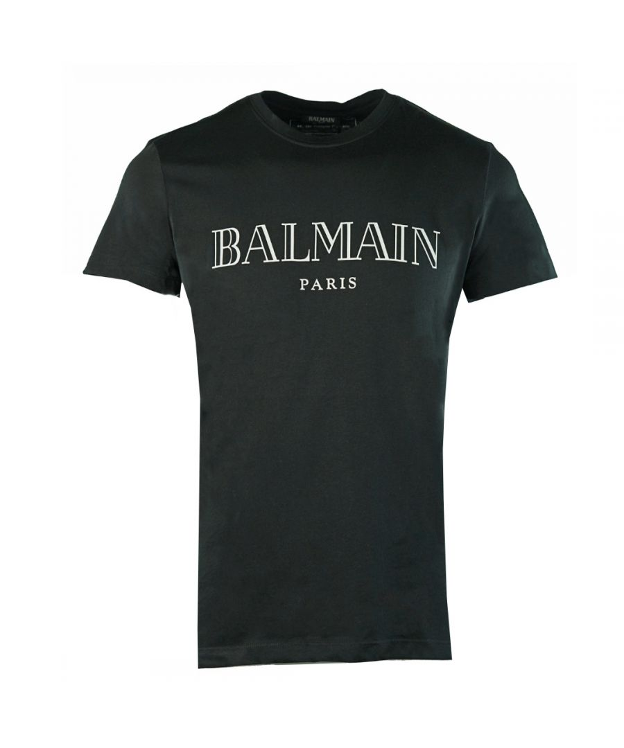 Image for Balmain Paris Logo Black T-Shirt