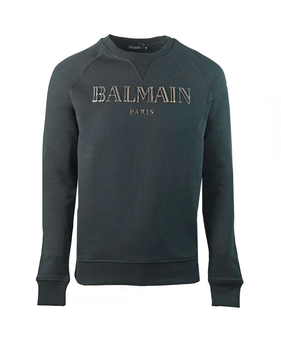 Image for Balmain Paris 3D Metallic Logo Black Sweater