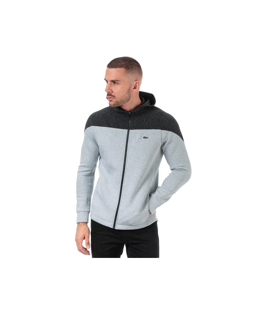Image for Men's Lacoste Colourblack Two Ply Zull Zip Hoody in Grey