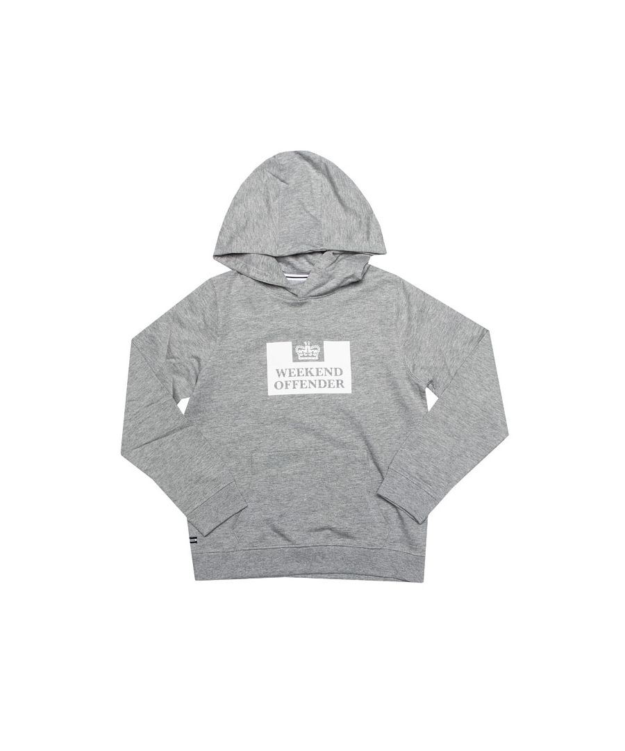 Image for Boy's Weekend Offender Junior HM Service Hoody in Grey Marl