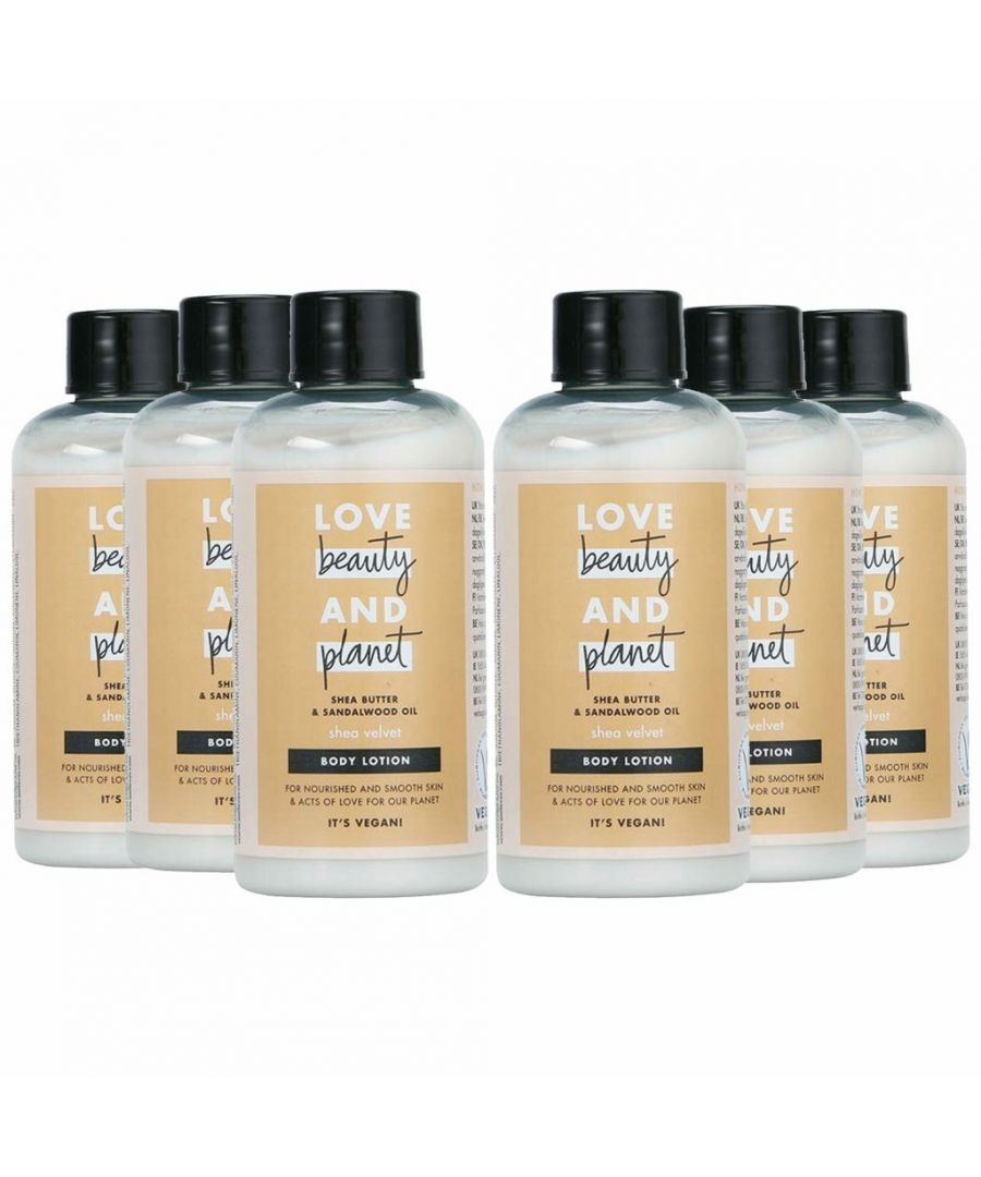 Image for Love Beauty & Planet Shea Velvet Shea Butter & Sandalwood Oil Body Lotion Mini 100ml (Pack of 6)