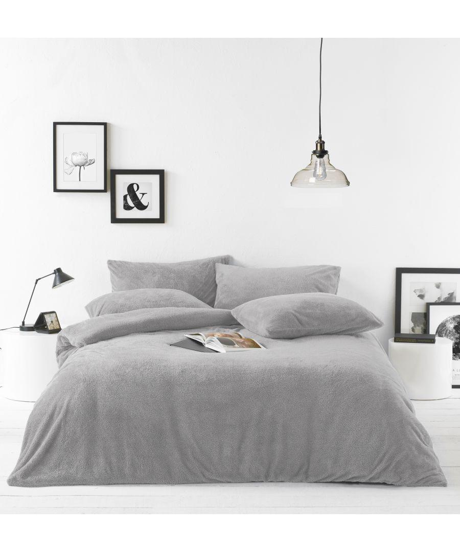 Image for Sherpa Duvet Set Grey
