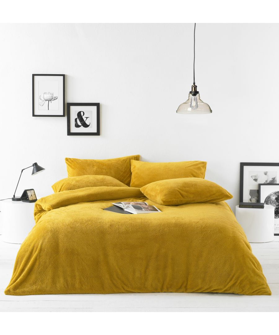 Image for Sherpa Duvet Set Ochre
