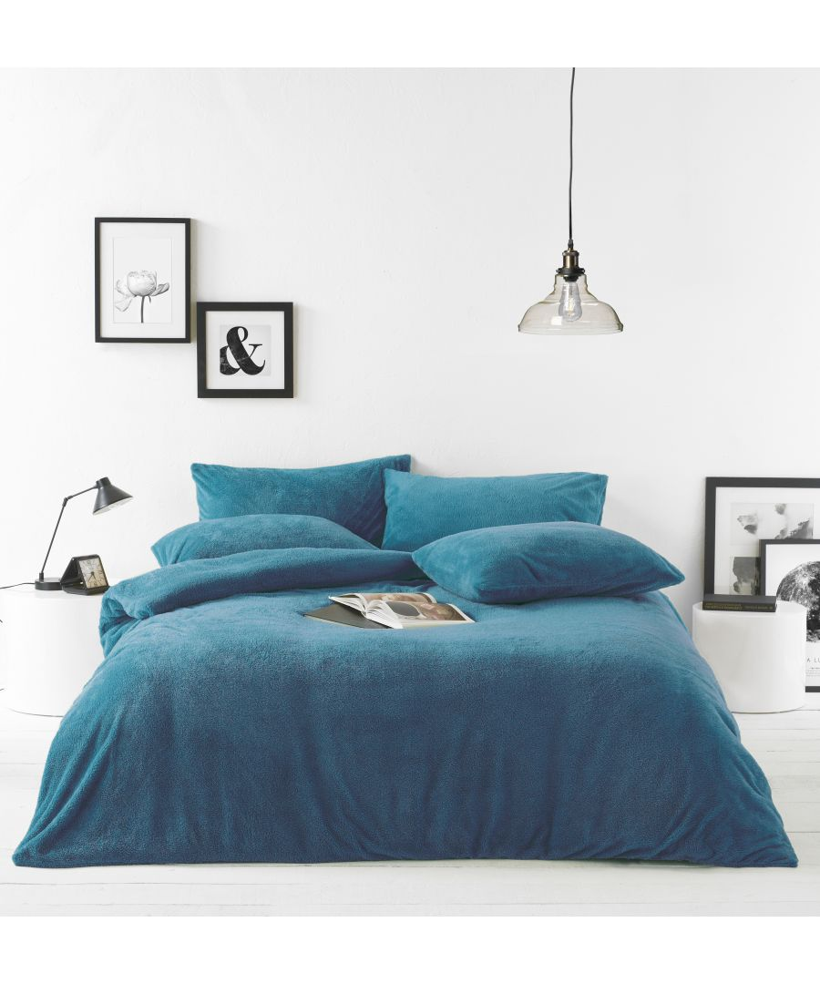 Image for Sherpa Duvet Set Teal