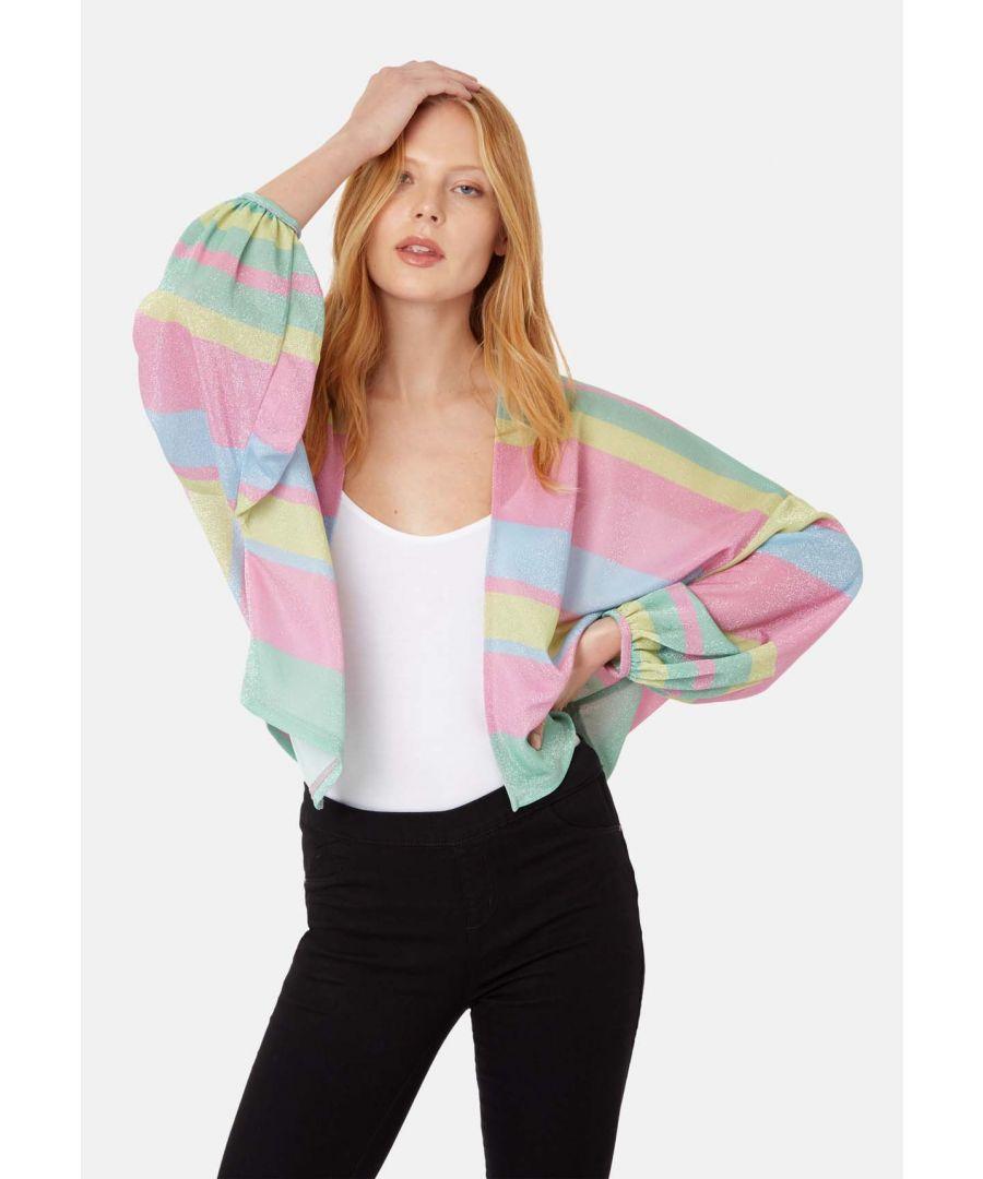Image for Shebert Stripe Longsleeve Shrug Jacket in Multicolour