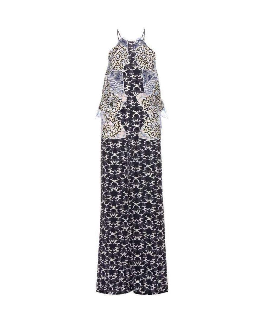 Image for Stella McCartney Applique Silk Crepe De Chine Jumpsuit