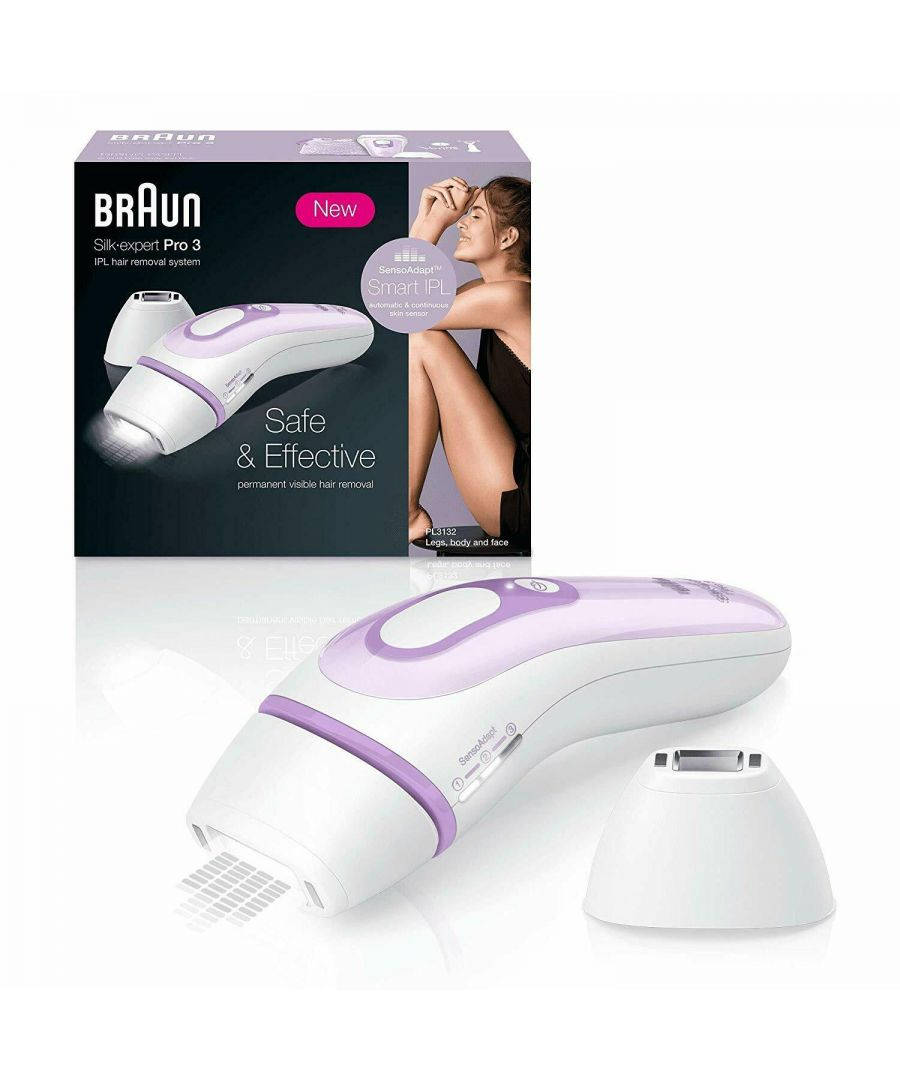 Image for Braun IPL Silk Expert Pro 3 PL3132 Latest Generation IPL White and Lilac