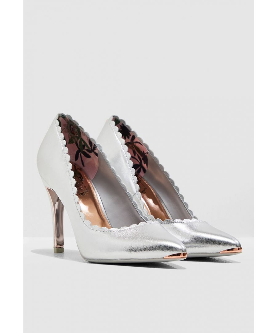 Image for Ted Baker Sloanal Scallop Detail Court, Silver