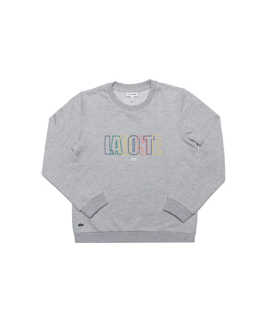 Image for Boy's Lacoste Infant Logo Crew Sweat in Grey
