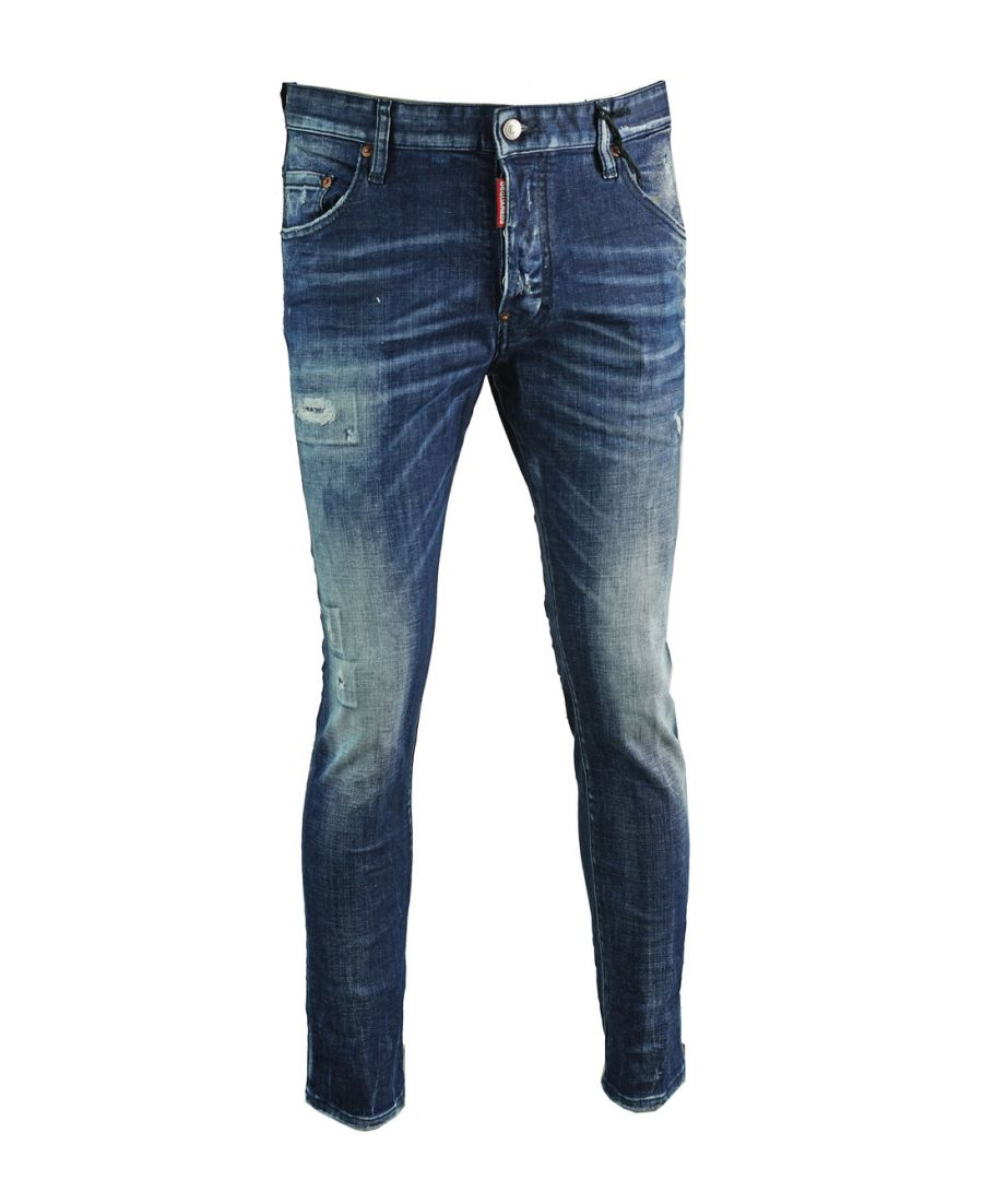 Image for Dsquared2 Skater Jean Distressed Faded Jeans