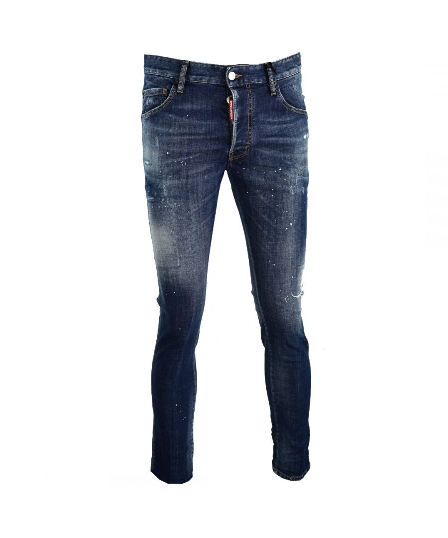 Image for Dsquared2 Skater Jean DSQ2 Milano Paint Spray Jeans
