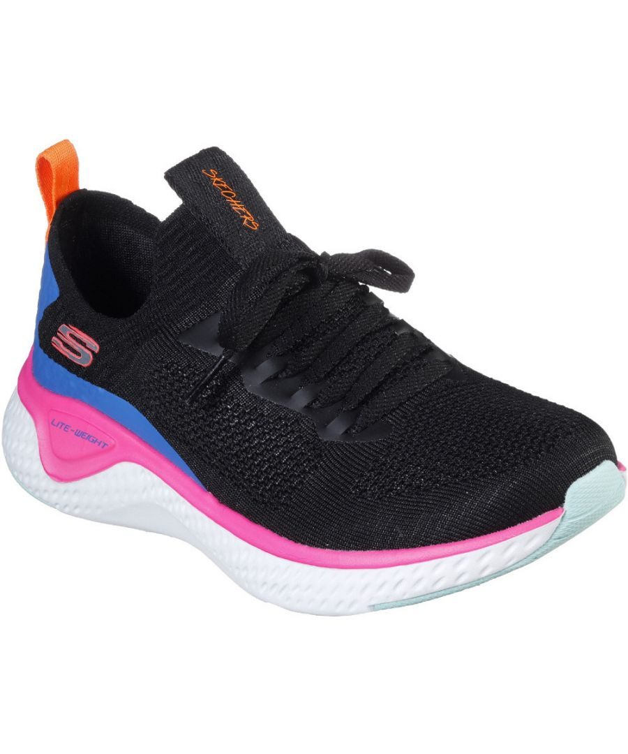 Image for Skechers Womens Solar Fuse Slip On Laced Trainer Shoes
