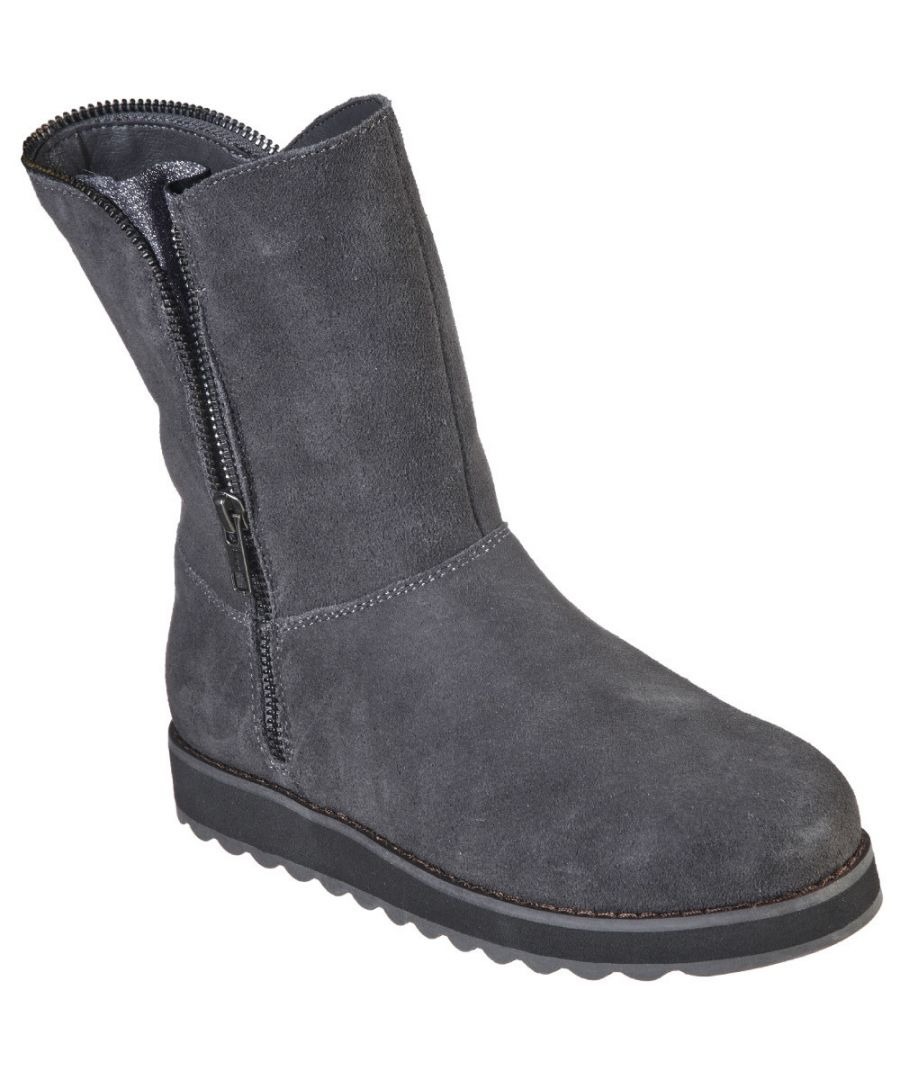 Image for Skechers Womens Keepsakes 2.0 Mid Zip Up Warm Winter Boots