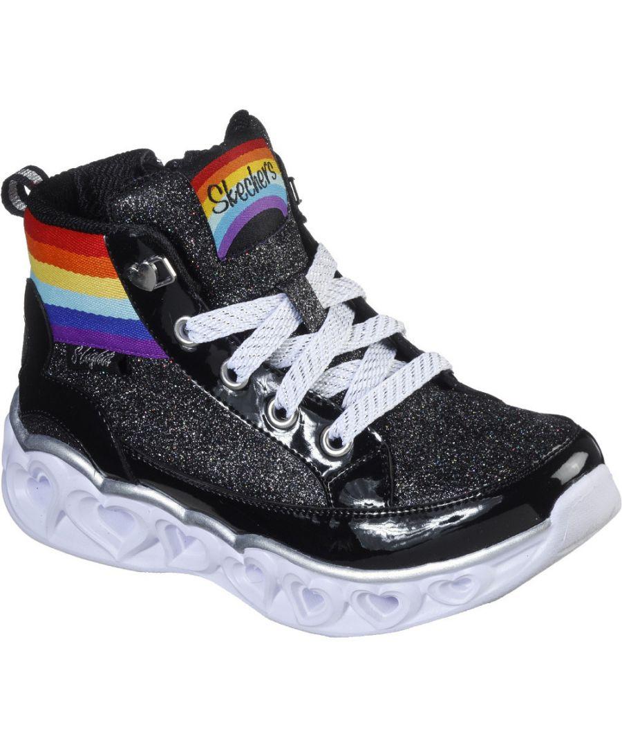 Image for Skechers Girls Heart Lights Rainbow Diva Hightops Shoes