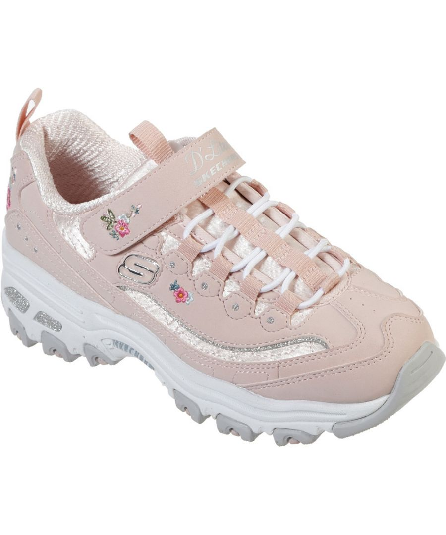 Image for Skechers Girls D'Lites-Lil Blossom Embroidery Athletic Shoes