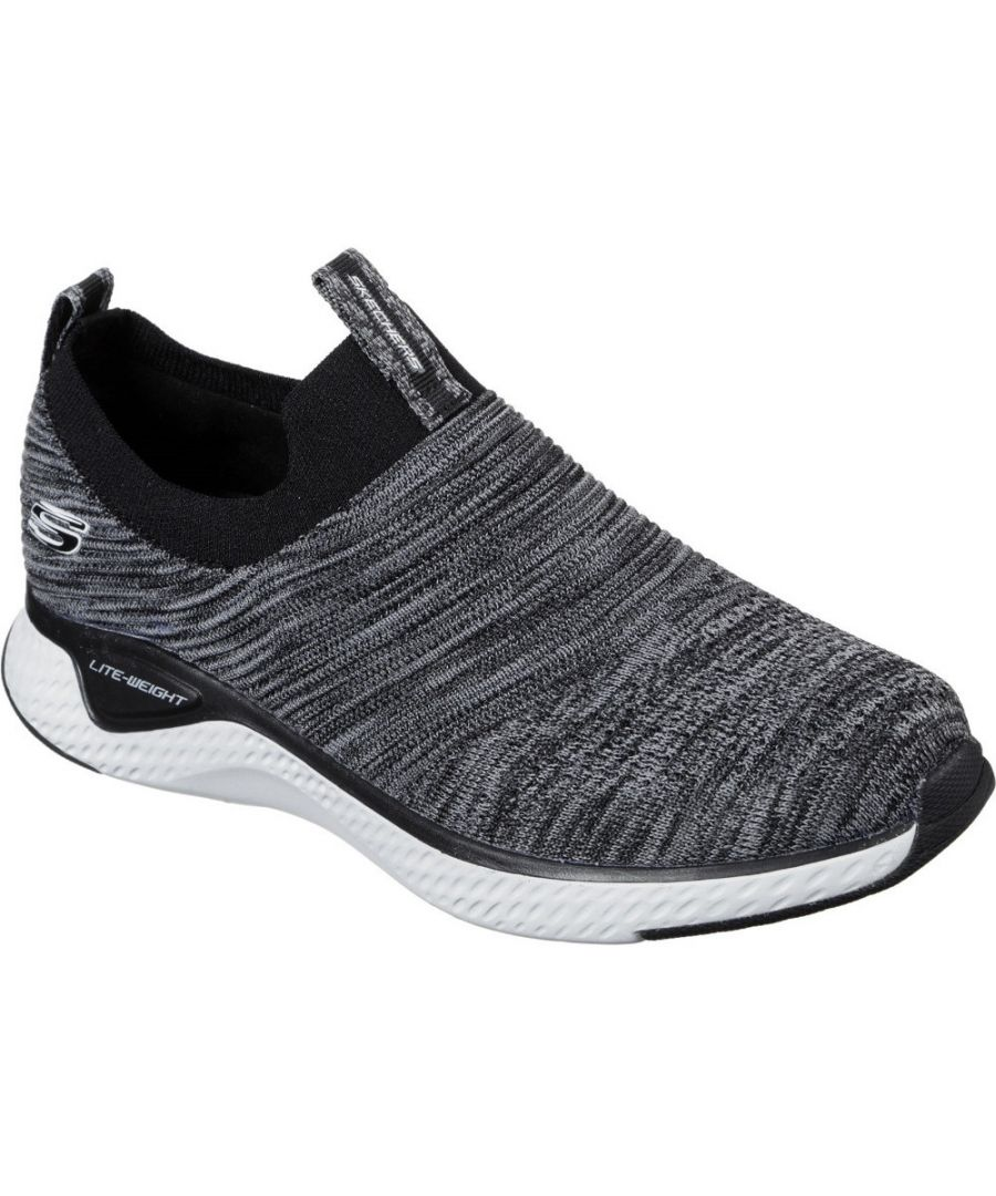 Image for Skechers Mens Solar Fuse Flat Knit Slip On Trainers Shoes