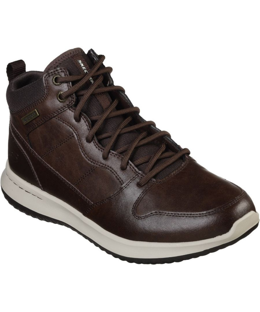 Image for Skechers Mens Delson Mid Waterproof Leather Lace Up Boots