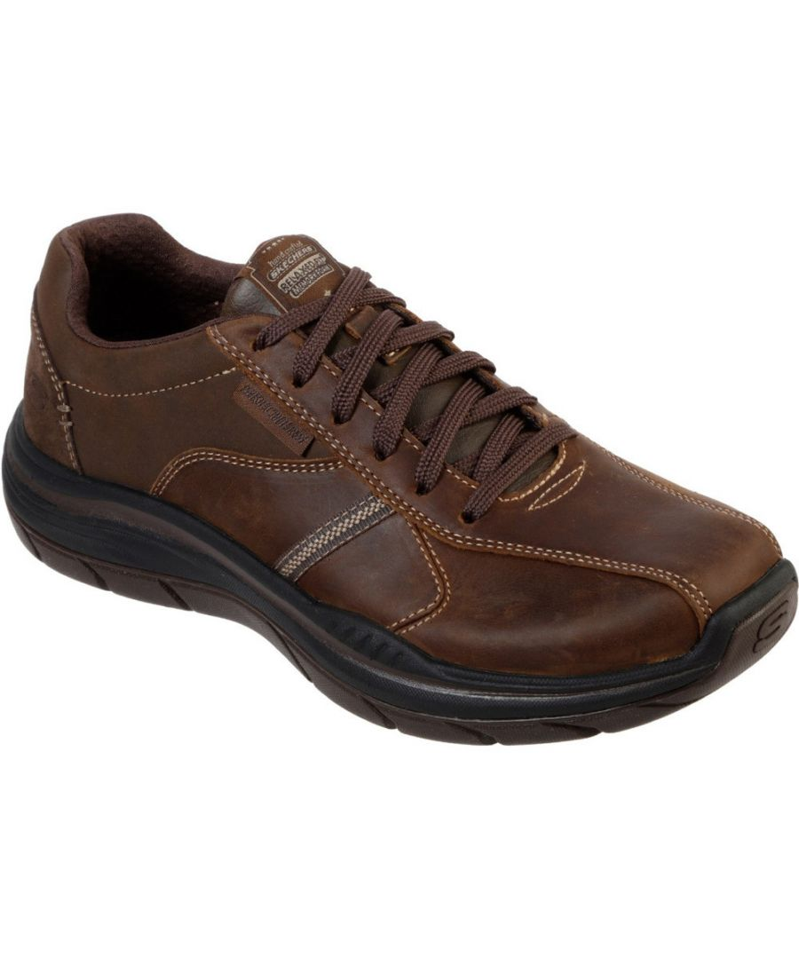 Image for Skechers Mens Expected 2.0 Belfair Lace Up Leather Shoes