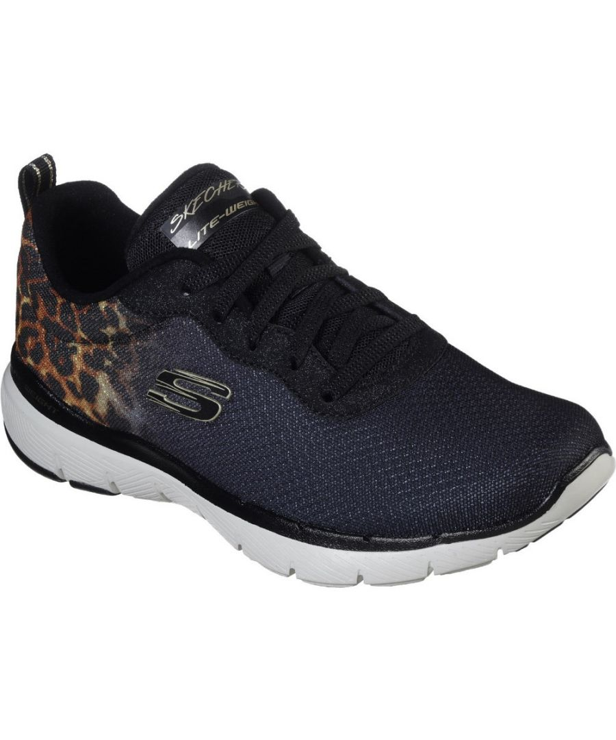 Image for Skechers Womens Flex Appeal 3.0 Leopard Pounce Trainers