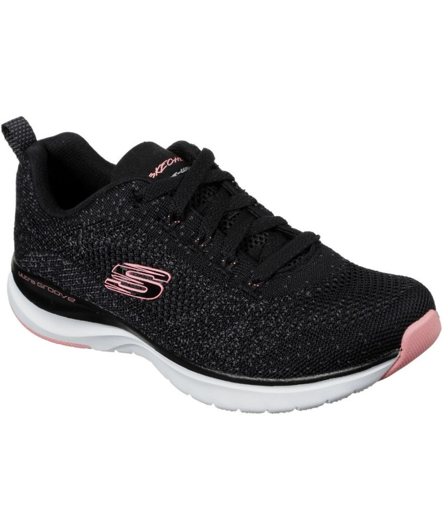 Image for Skechers Womens Ultra Groove Lace Up Knitted Sports Trainers