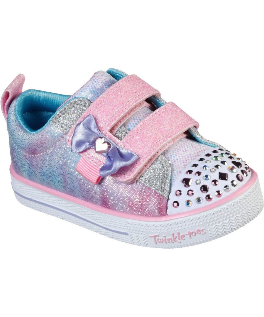 Image for Skechers Girls Shuffle Lites Sweet Supply Light Up Shoes