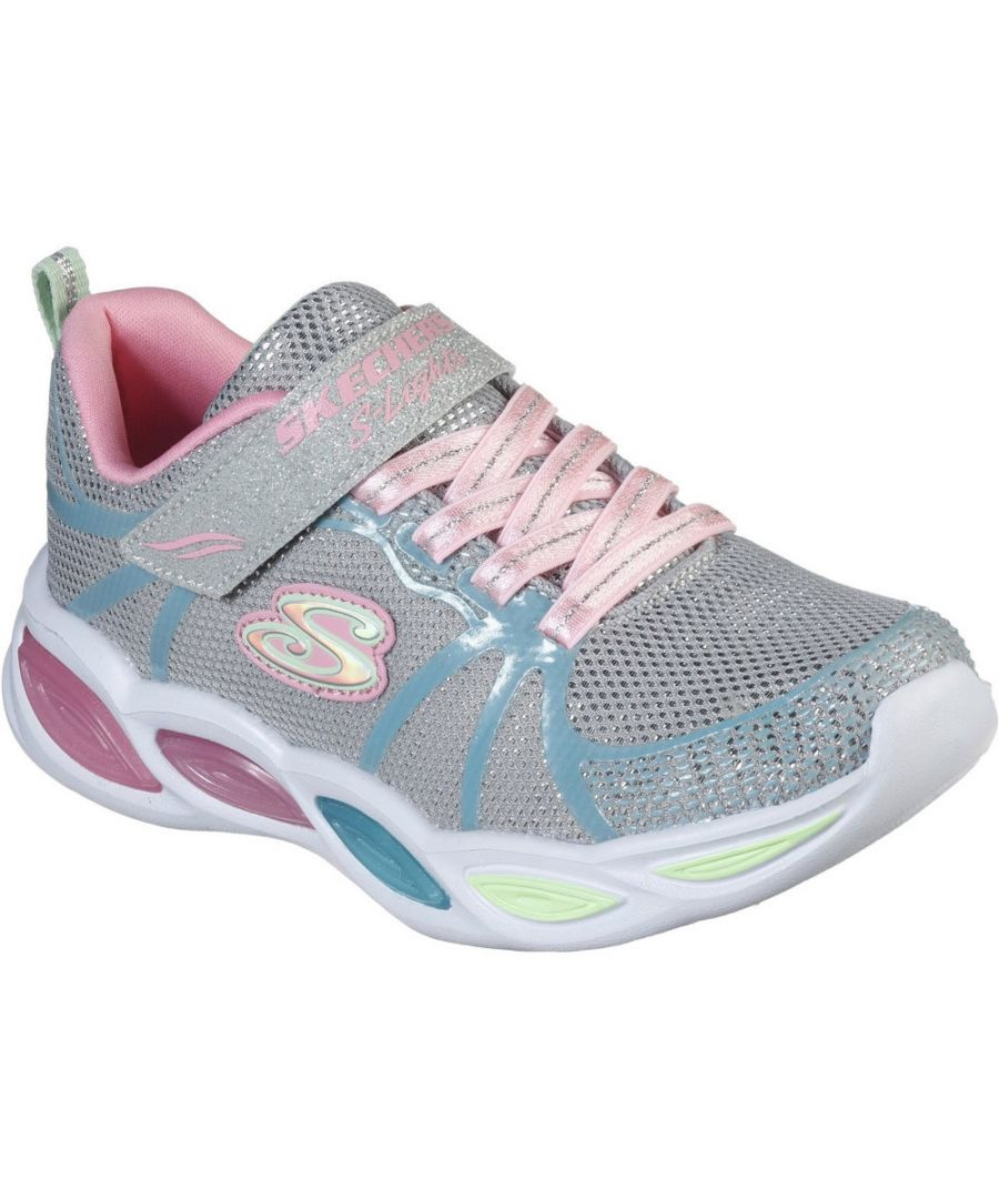 Image for Skechers Girls S Lights Shimmer Beams Sporty Glow Shoes