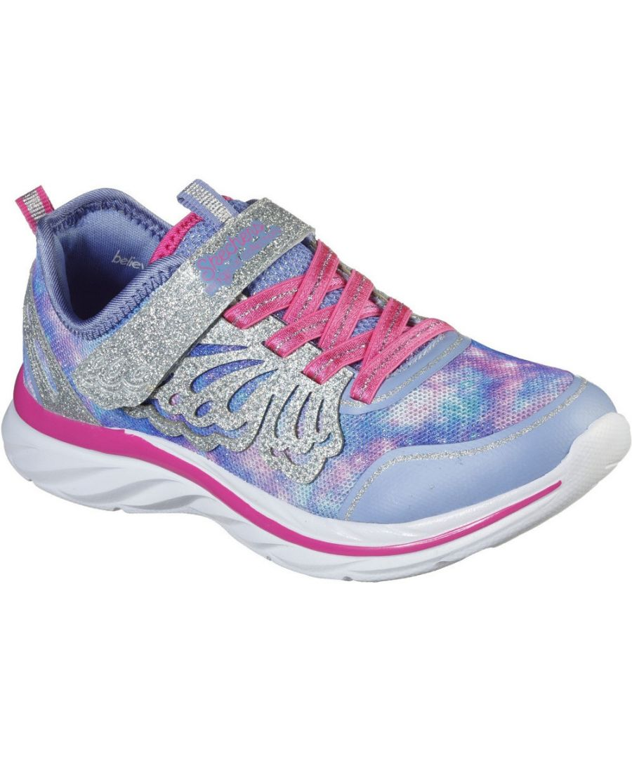 Image for Skechers Girls Quick Kicks Fairy Glitz Sports Trainers