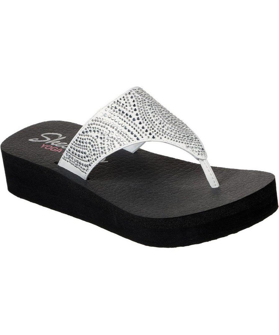 Image for Skechers Womens Vinyasa Stone Candy Platform Flip Flops