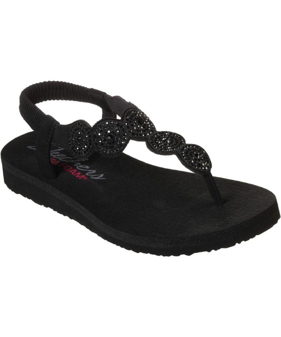Image for Skechers Womens Meditation Stars & Sparkle Toe Post Sandals
