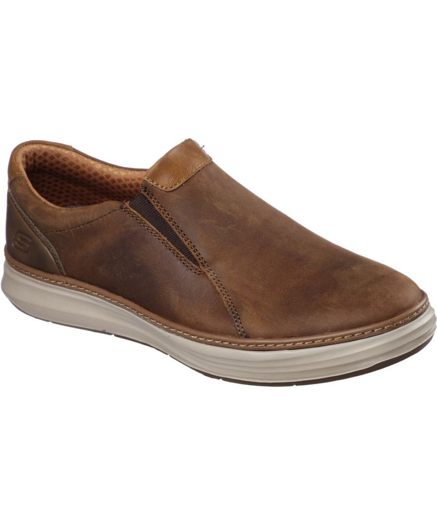 Image for Skechers Mens Moreno Nector Slip On Leather Loafer Shoes