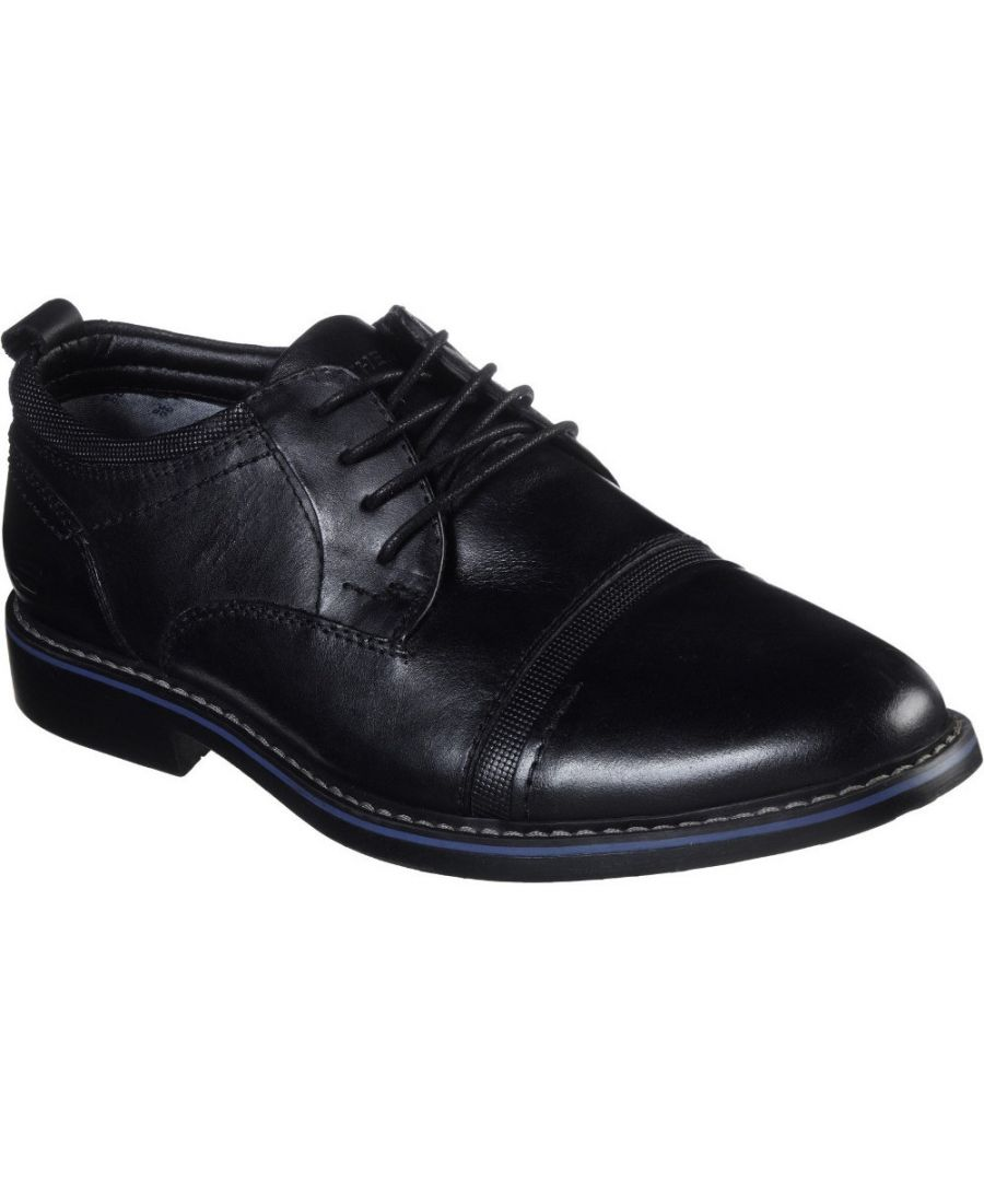 Image for Skechers Mens Bregman Selone Lace Up Leather Dress Shoes