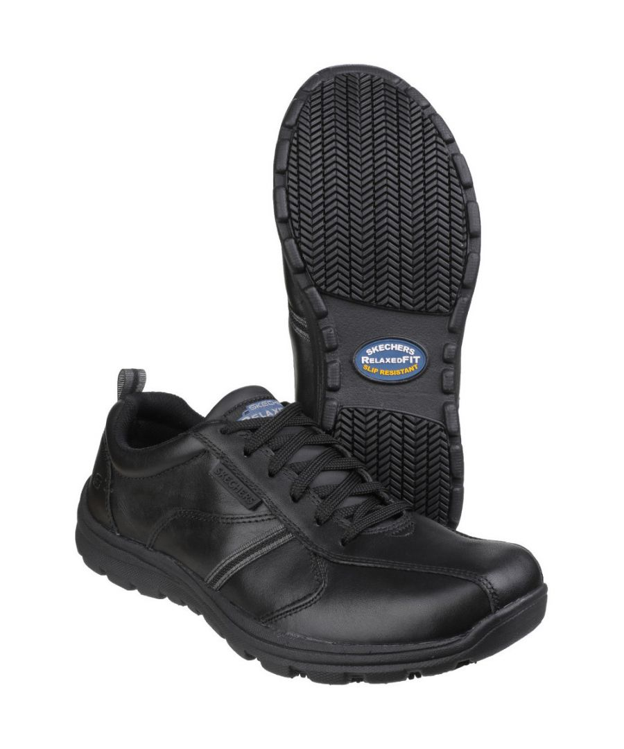 Image for Skechers Mens Hobber - Frat Slip Resistant Lace up Work Shoes