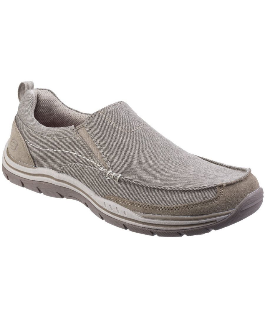 Image for Skechers Mens Expected Tomen Slip On Canvas Loafer Moccasin Shoes