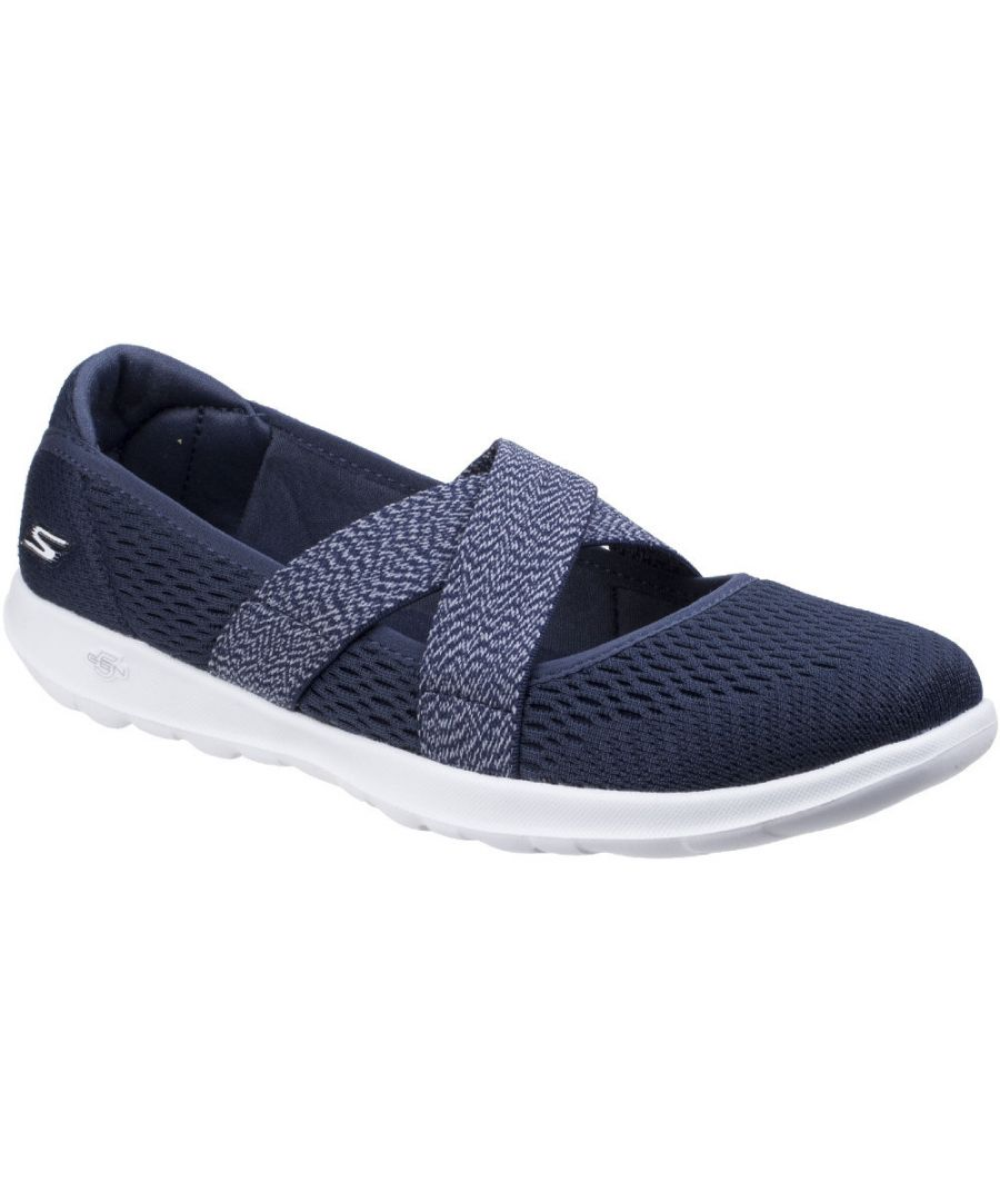 Image for Skechers Womens/Ladies GOwalk Lite Cutesy Slip On Casual Shoes